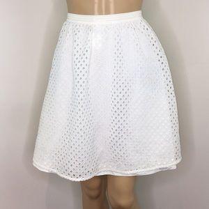 Club Monaco White Eyelet Circle Skirt